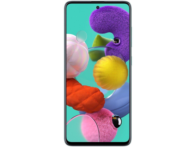 "Smartphone Samsung Galaxy A51 128GB Azul 4G - 4GB RAM 6,5"" Câm. Quádrupla + Câm. Selfie 32MP - Bivolt - 4"