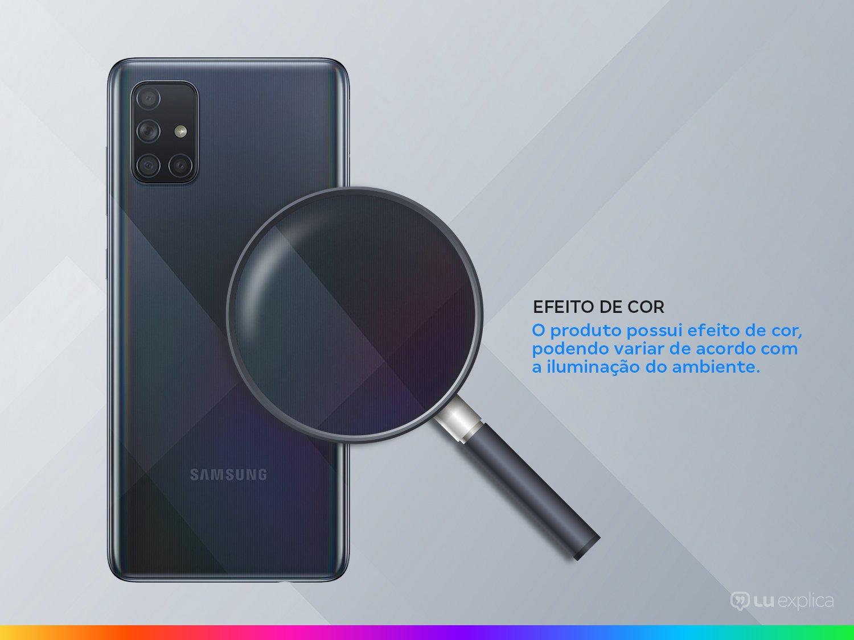 """Smartphone Samsung Galaxy A71 128GB Preto 6GB RAM - Tela 6,7"""" Câm. Quádrupla Câm. + Selfie 32MP - Bivolt - 2"""