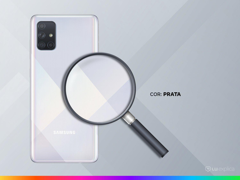 "Smartphone Samsung Galaxy A71 128GB Prata 6GB RAM - Tela 6,7"" Câm. Quádrupla Câm. + Selfie 32MP - Bivolt - 2"