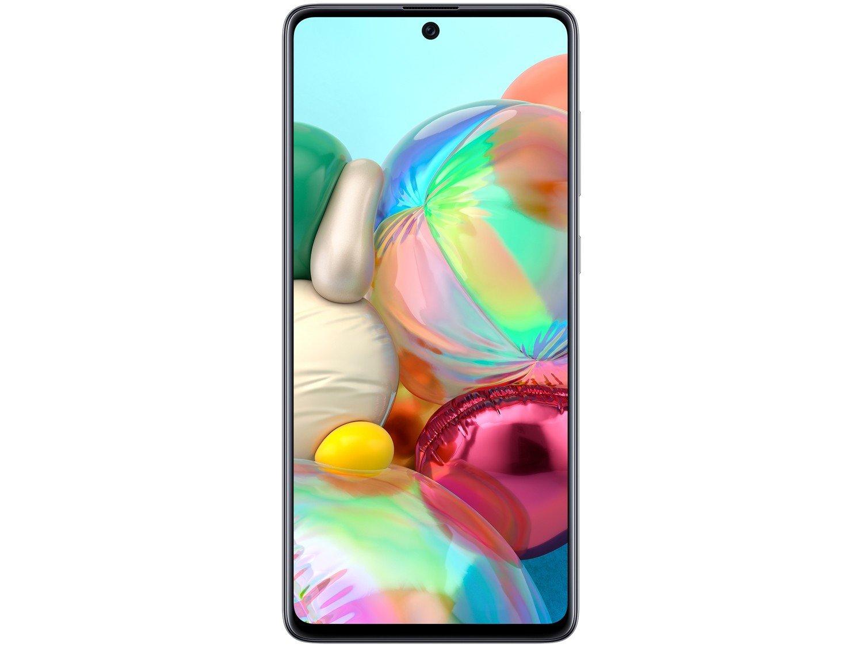 "Smartphone Samsung Galaxy A71 128GB Prata 6GB RAM - Tela 6,7"" Câm. Quádrupla Câm. + Selfie 32MP - Bivolt - 4"