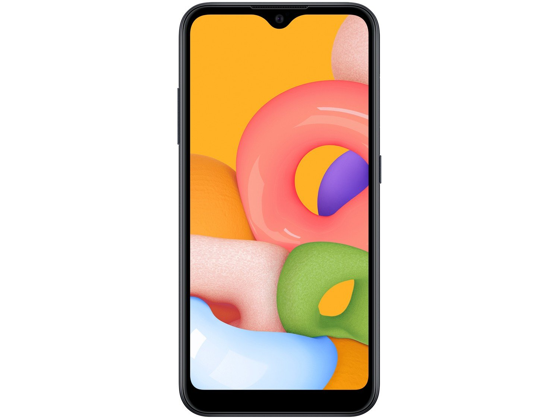"Smartphone Samsung Galaxy A01 32GB Preto Octa-Core - 2GB RAM Tela 5,7"" Câm. Dupla + Câm. Selfie 5MP - Bivolt - 3"