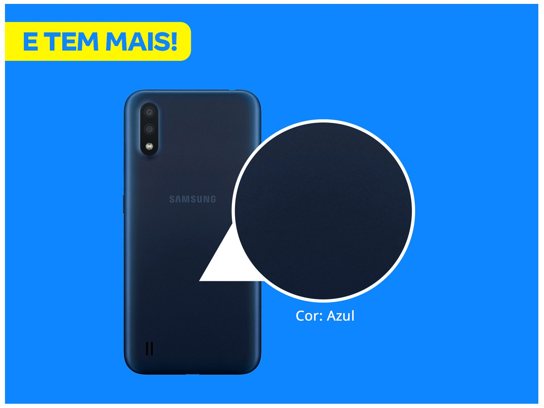 "Smartphone Samsung Galaxy A01 32GB Azul Octa-Core - 2GB RAM Tela 5,7"" Câm. Dupla + Câm. Selfie 5MP - Bivolt - 2"