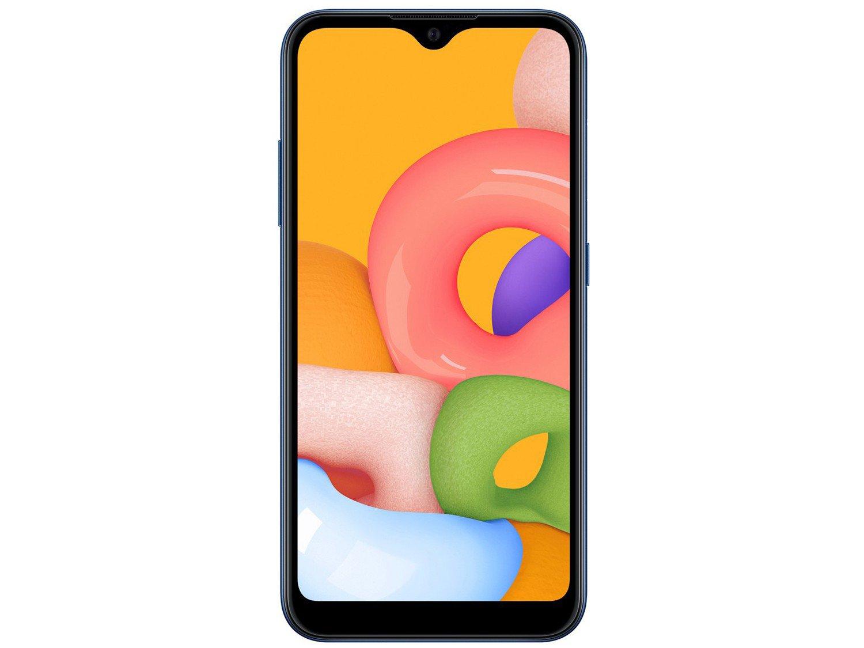 "Smartphone Samsung Galaxy A01 32GB Azul Octa-Core - 2GB RAM Tela 5,7"" Câm. Dupla + Câm. Selfie 5MP - Bivolt - 4"