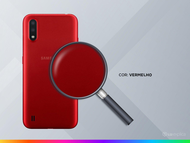 """Smartphone Samsung Galaxy A01 32GB Vermelho - 2GB RAM Tela 5,7"""" Câm. Dupla + Câm. Selfie 5MP - Bivolt - 2"""