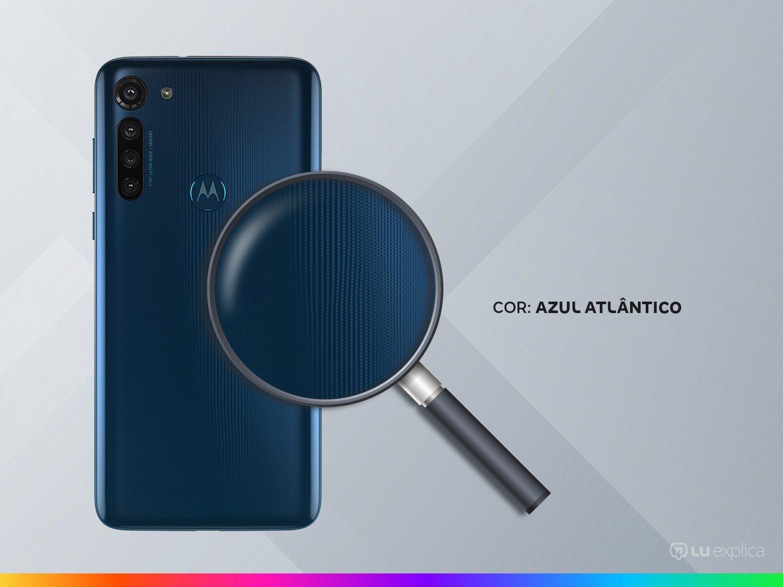 """Smartphone Motorola Moto G8 Power Azul Atlântico 64GB, Tela de 6.4"""" FHD+, Câmera Traseira Quádrupla, Android 10 e Processador Qualcomm Octa-Core - 9"""