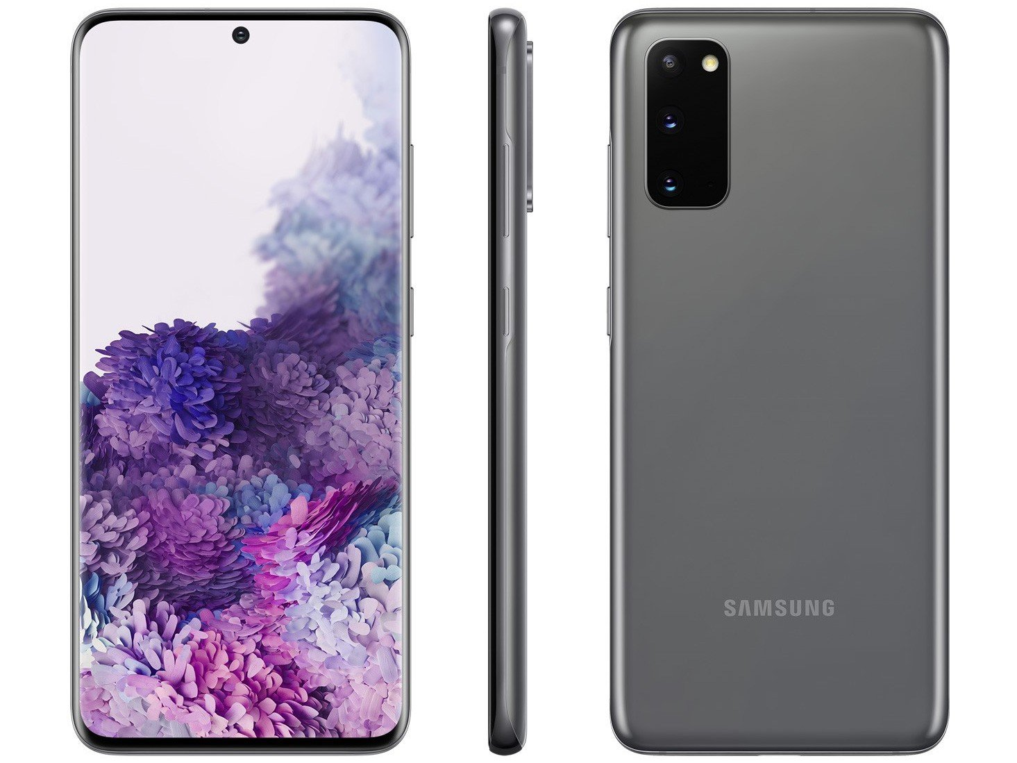 "Smartphone Samsung Galaxy S20 128GB Cosmic Gray - Octa-Core 8GB RAM 6,2"" Câm. Tripla + Selfie 10MP - Bivolt"