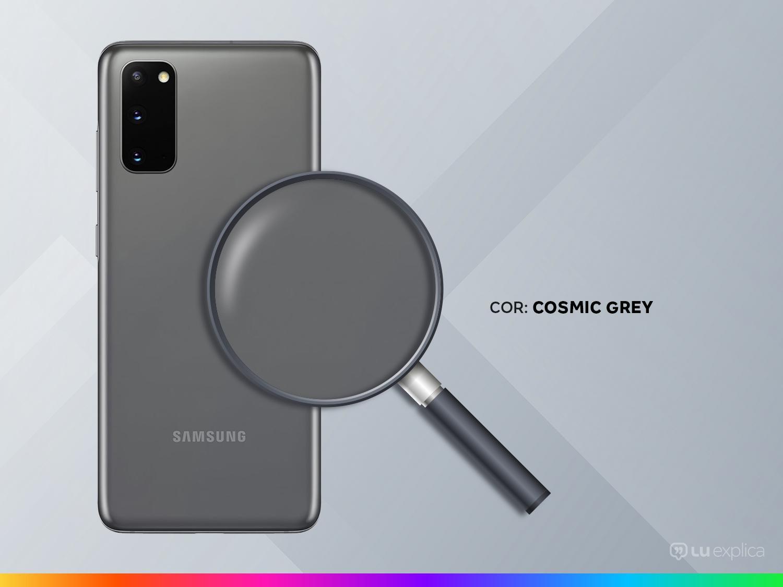 "Smartphone Samsung Galaxy S20 128GB Cosmic Gray - Octa-Core 8GB RAM 6,2"" Câm. Tripla + Selfie 10MP - Bivolt - 2"