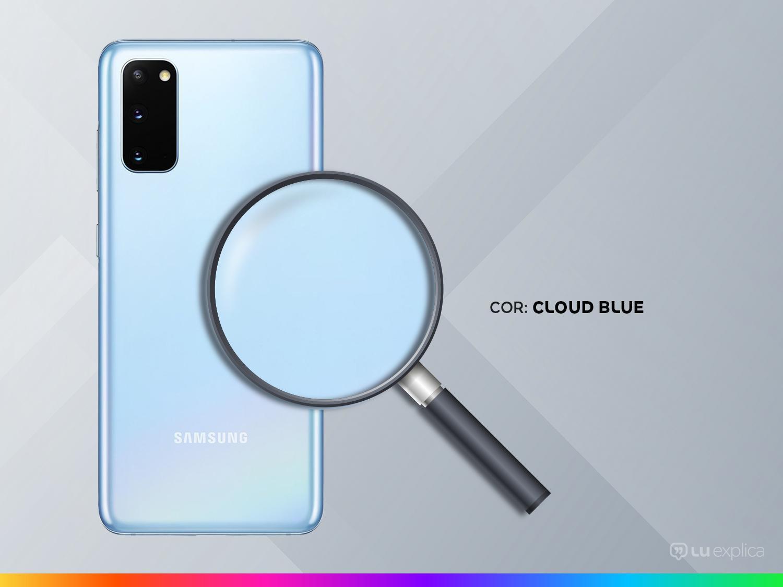 "Smartphone Samsung Galaxy S20 128GB Cloud Blue 4G - Octa-Core 8GB RAM 6,2"" Câm. Tripla + Selfie 10MP - Bivolt - 2"