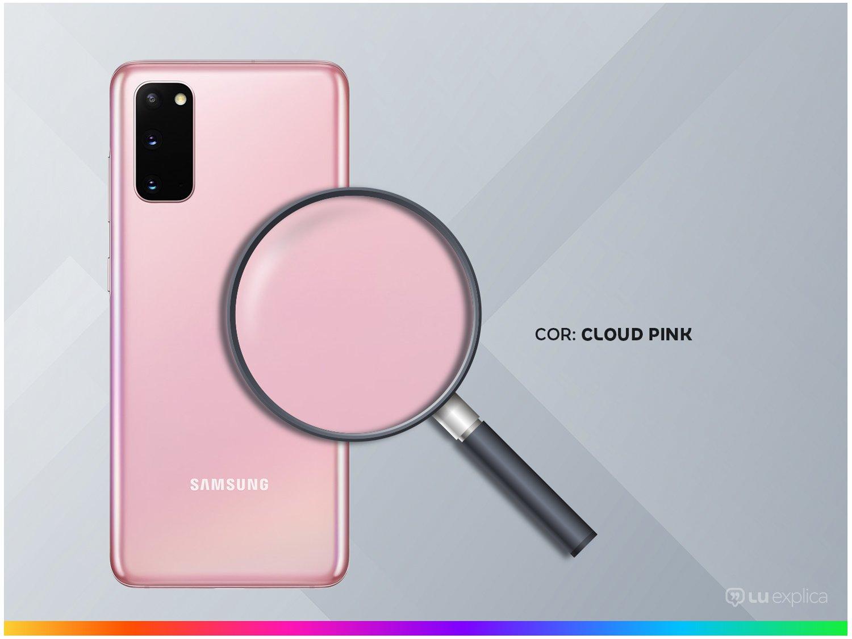 "Smartphone Samsung Galaxy S20 128GB Cloud Pink 4G - Octa-Core 8GB RAM 6,2"" Câm. Tripla + Selfie 10MP - Bivolt - 2"