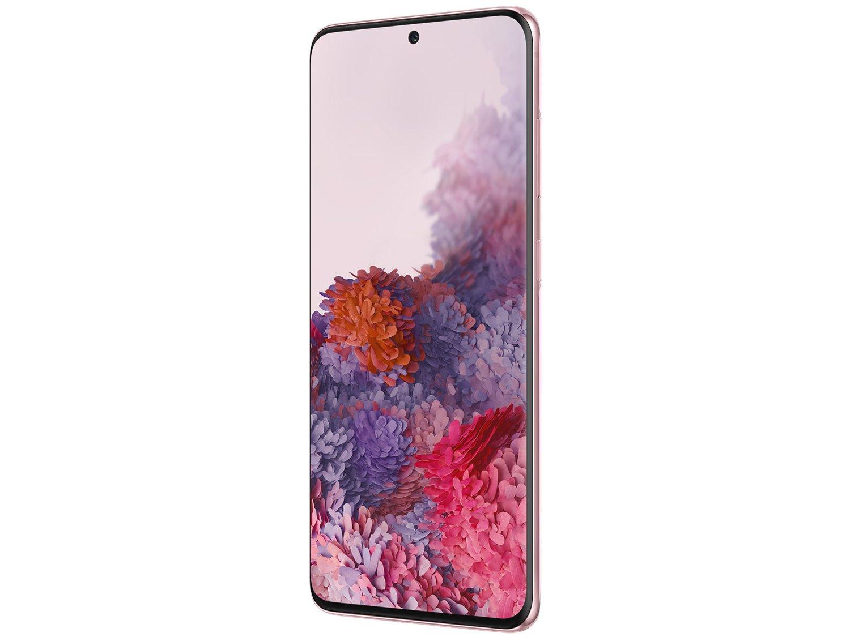 "Smartphone Samsung Galaxy S20 128GB Cloud Pink 4G - Octa-Core 8GB RAM 6,2"" Câm. Tripla + Selfie 10MP - Bivolt - 4"