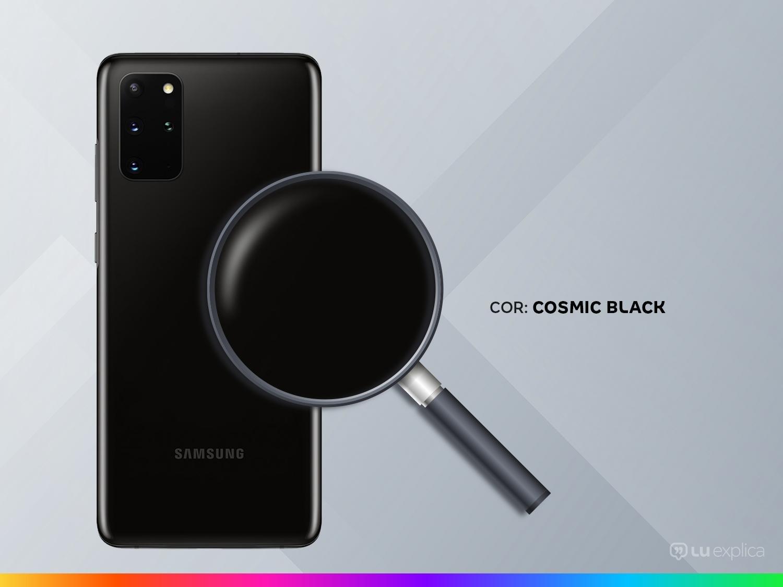 "Smartphone Samsung Galaxy S20+ 128GB Cosmic Black - 8GB RAM Tela 6,7"" Câm. Quádrupla + Selfie 10MP - Bivolt - 2"