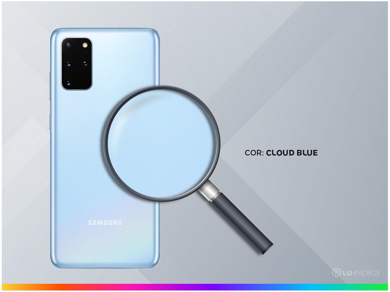 "Smartphone Samsung Galaxy S20+ 128GB Cloud Blue - 8GB RAM Tela 6,7"" Câm. Quádrupla + Selfie 10MP - Bivolt - 2"