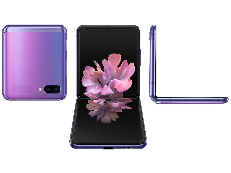 SM-F700FZPDZTO TELEFONE CELULAR SAMSUNG SM-F700F GALAXY Z FLIP 256GB ULTRAVIOLETA