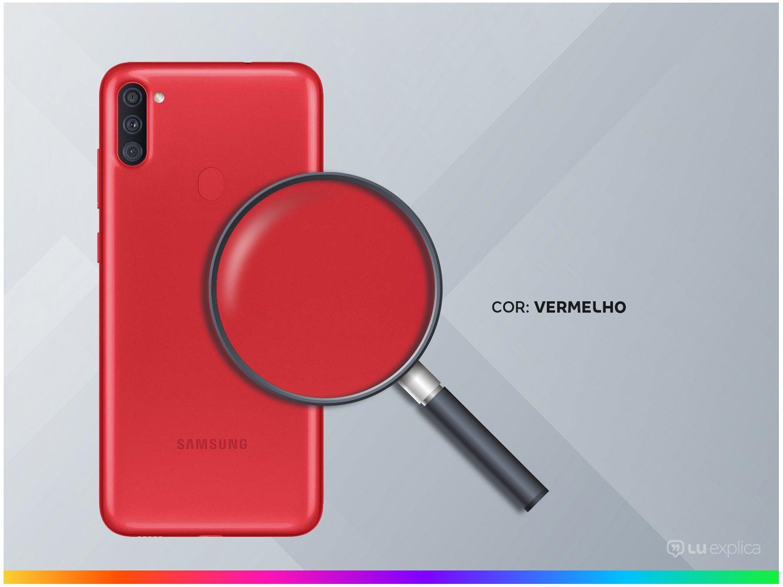 "Smartphone Samsung Galaxy A11 64GB Vermelho 4G - Octa-Core 3GB RAM 6,4"" Câm. Tripla + Selfie 8MP - Bivolt - 2"