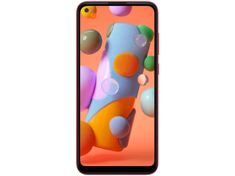 "Smartphone Samsung Galaxy A11 64GB Vermelho 4G - Octa-Core 3GB RAM 6,4"" Câm. Tripla + Selfie 8MP - Bivolt - 4"