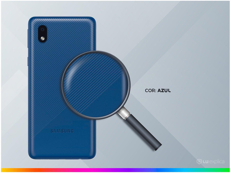 "Smartphone Samsung Galaxy A01 Core 32GB Azul - Quad-Core 2GB RAM Tela 5,3"" Câm. 8MP + Selfie 5MP - Bivolt - 2"