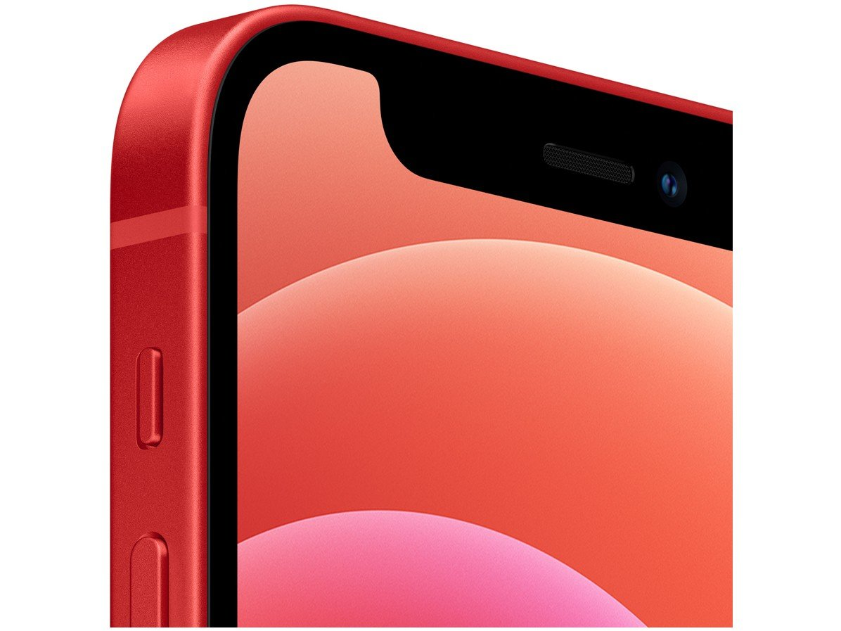 "iPhone 12 Mini Apple 64GB (PRODUCT)RED 5,4"" - Câm. Dupla 12MP iOS - 1"