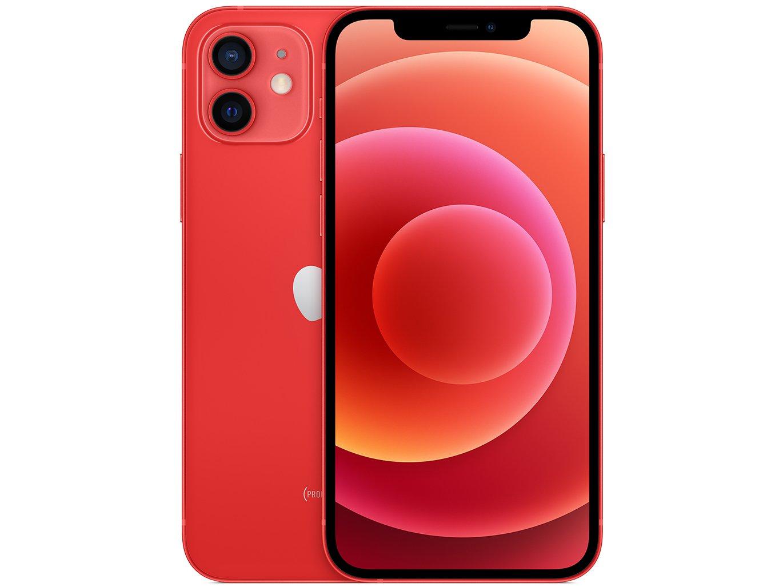 "iPhone 12 Apple 256GB (PRODUCT)RED Tela 6,1"" - Câm. Dupla 12MP iOS - Bivolt"