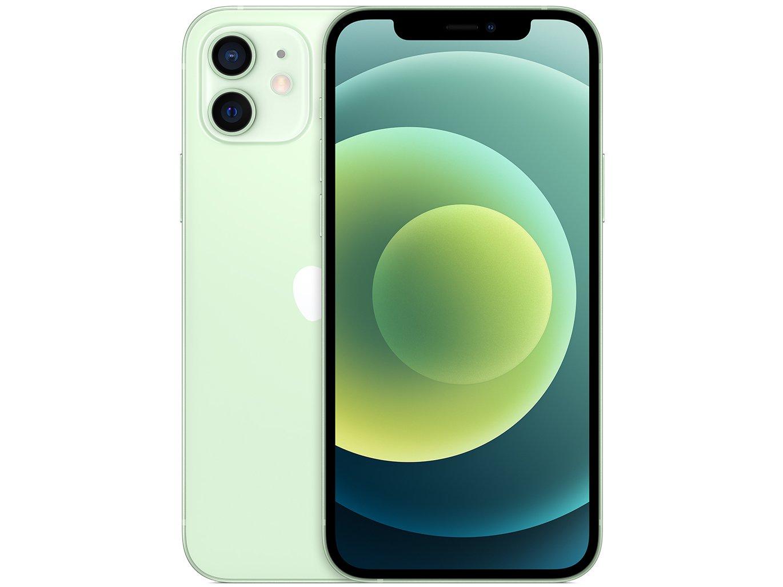 "iPhone 12 Apple 256GB Verde Tela 6,1"" - Câm. Dupla 12MP iOS - Bivolt"