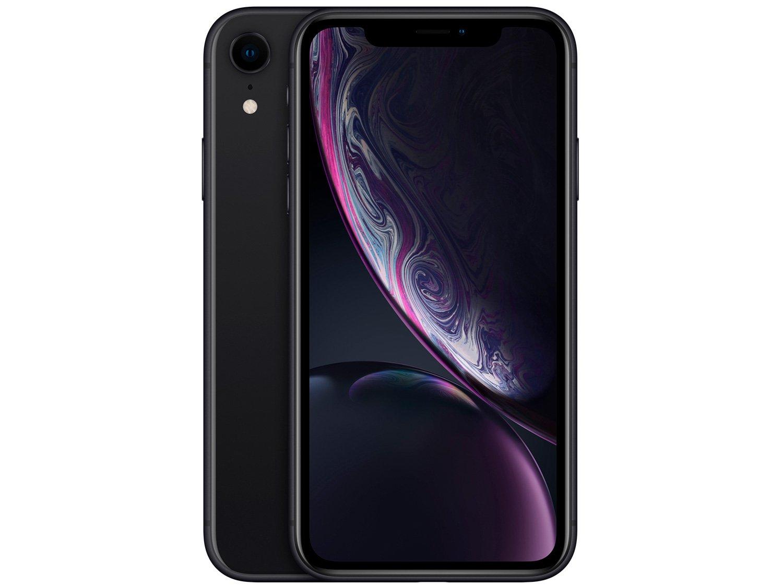 "iPhone XR Apple 64GB Preto 6,1"" 12MP iOS -"