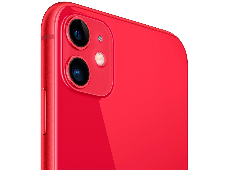 "iPhone 11 Apple 128GB (PRODUCT)RED, Tela Retina HD de 6.1"", iOS 13, Câmera Traseira Dupla MHDK3BR/A - 5"