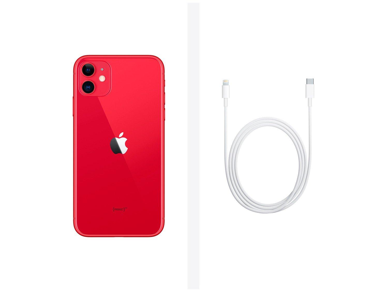"iPhone 11 Apple 128GB (PRODUCT)RED, Tela Retina HD de 6.1"", iOS 13, Câmera Traseira Dupla MHDK3BR/A - 7"
