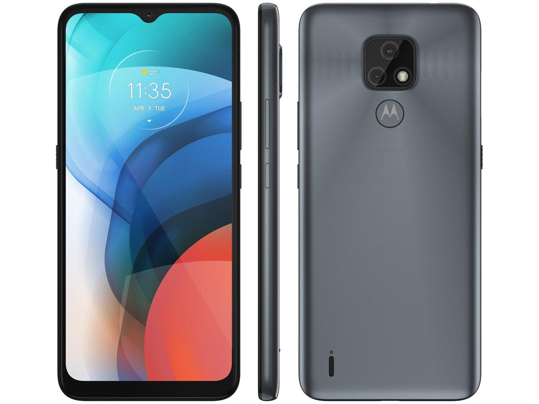 """Smartphone Motorola Moto E7 Cinza Metálico 32GB, 2GB RAM, Tela de 6.5"""", Câmera Traseira Dupla, Android 10 e Processador Octa-Core - 1"""