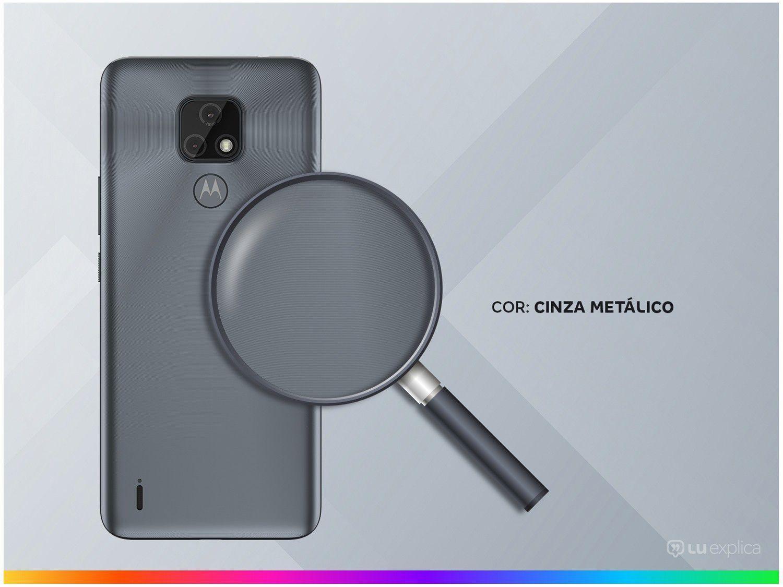 """Smartphone Motorola Moto E7 Cinza Metálico 32GB, 2GB RAM, Tela de 6.5"""", Câmera Traseira Dupla, Android 10 e Processador Octa-Core - 5"""