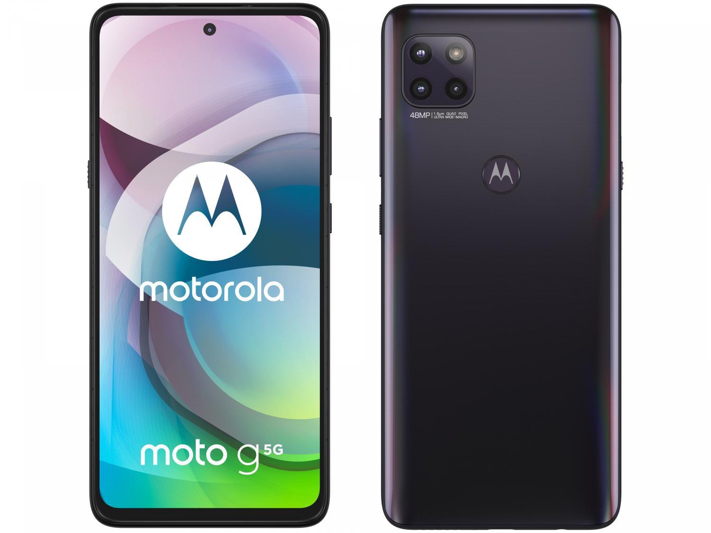 """Smartphone Motorola Moto G 5G Preto Prisma 128GB, 6GB RAM, Tela de 6.7"""", Câmera Traseira Tripla, Android 10 e Processador Octa-Core - 1"""