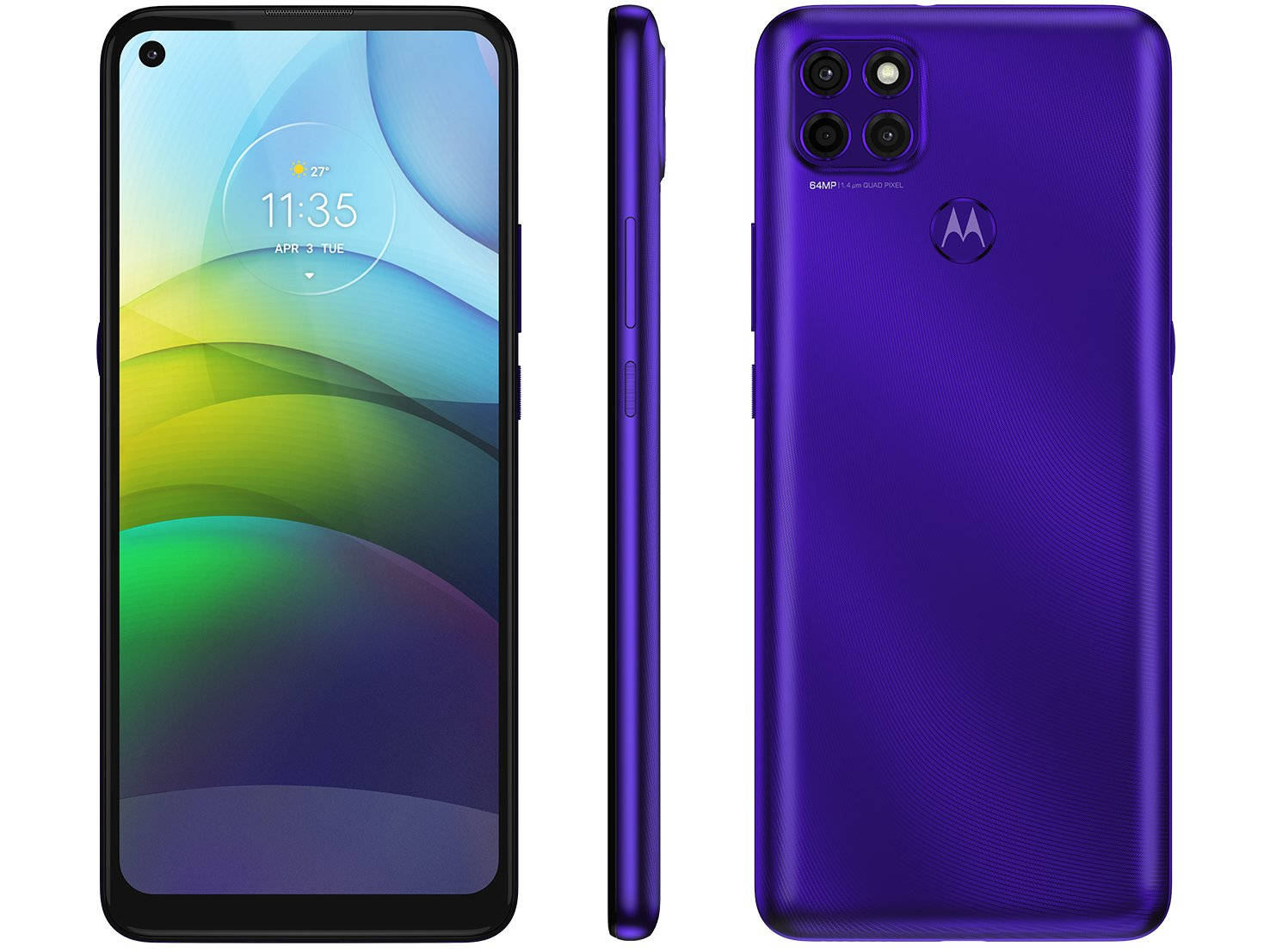 """Smartphone Motorola Moto G9 Power Purple 128GB, 4GB RAM, Tela de 6.8"""", Câmera Traseira Tripla, Android 10 e Processador Octa-Core - 1"""