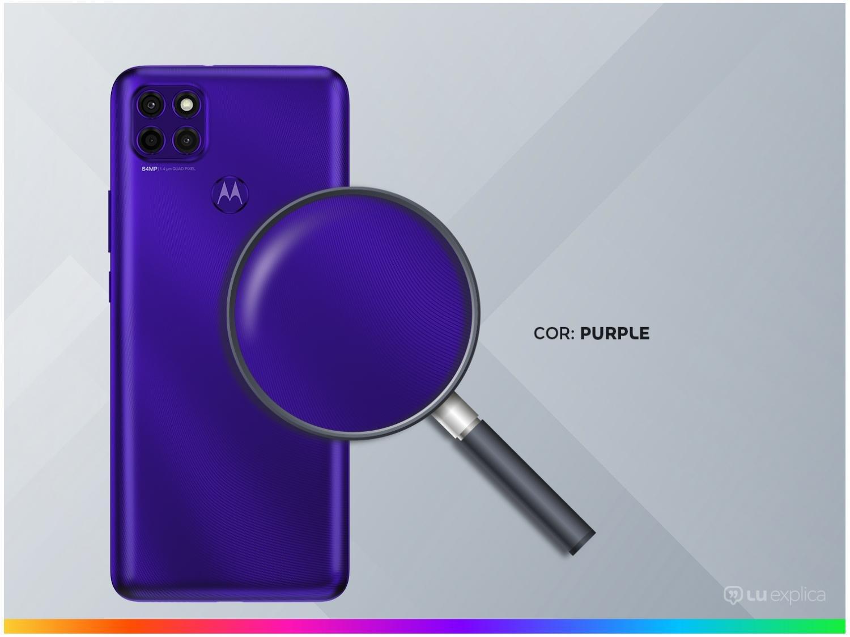 """Smartphone Motorola Moto G9 Power Purple 128GB, 4GB RAM, Tela de 6.8"""", Câmera Traseira Tripla, Android 10 e Processador Octa-Core - 5"""
