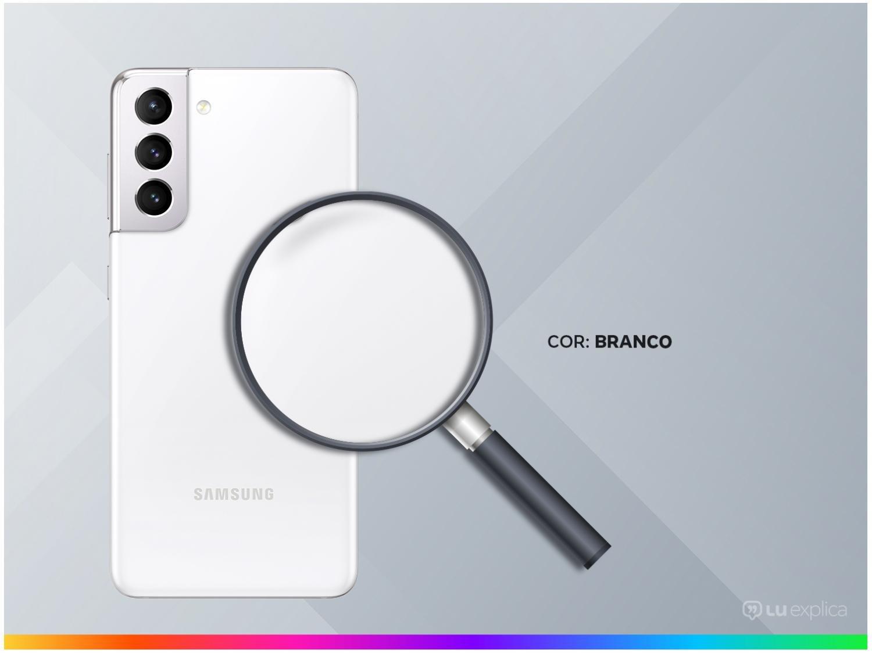"Smartphone Samsung Galaxy S21 128GB Branco 5G - 8GB RAM Tela 6,2"" Câm. Tripla + Selfie 10MP - Bivolt - 2"
