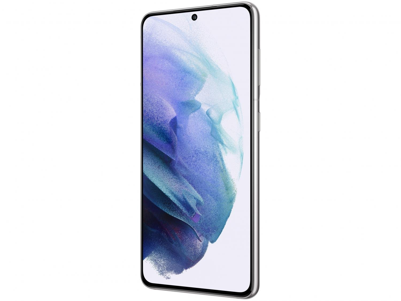 "Smartphone Samsung Galaxy S21 128GB Branco 5G - 8GB RAM Tela 6,2"" Câm. Tripla + Selfie 10MP - Bivolt - 3"