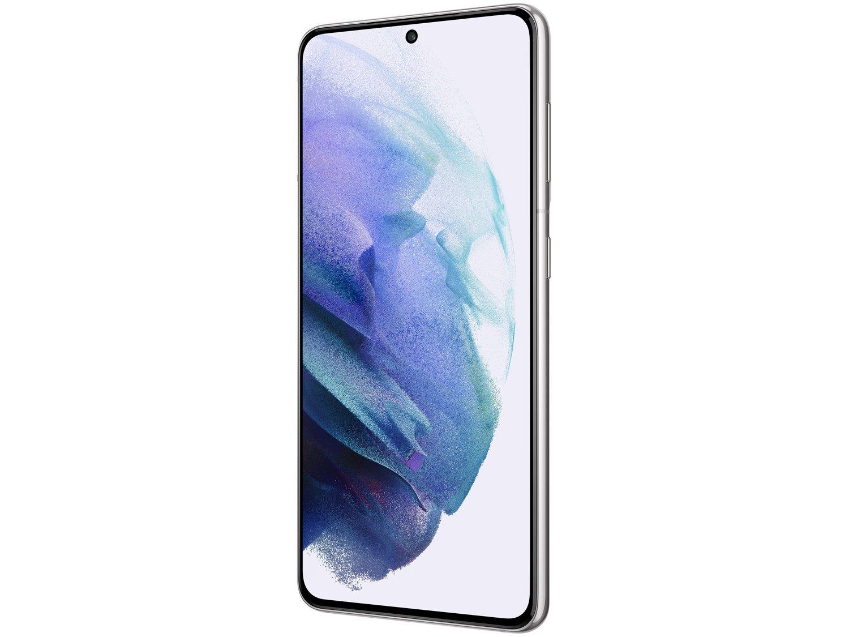 "Smartphone Samsung Galaxy S21 128GB Branco 5G - 8GB RAM Tela 6,2"" Câm. Tripla + Selfie 10MP - Bivolt - 4"