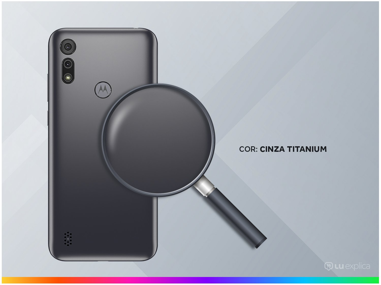 "Smartphone Motorola Moto E6i 32GB Cinza Titanium - 4G 2GB RAM Tela 6,1"" Câm. Dupla + Selfie 5MP - Bivolt - 2"