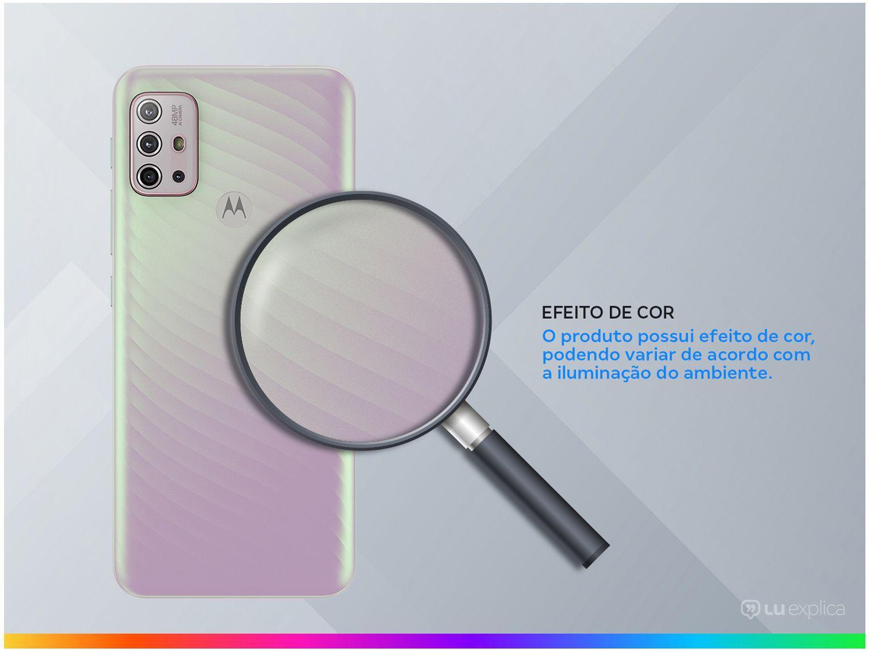 """Smartphone Motorola Moto G10 Branco Floral 64GB, 4GB Ram, Tela de 6.5"""", Câmera Traseira Quádrupla, Android 11 e Processador Qualcomm 460 Octa-Core - 5"""