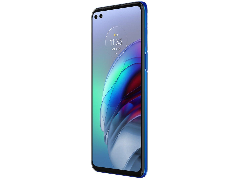 "Smartphone Motorola Moto G100 256GB Luminous Ocean - 5G 12GB RAM 6,7"" Câm. Quádrupla + Selfie Dupla - Bivolt - 3"