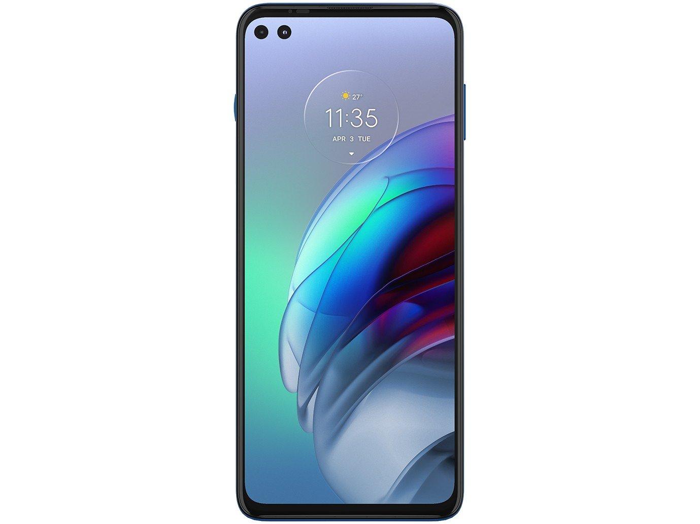 "Smartphone Motorola Moto G100 256GB Luminous Ocean - 5G 12GB RAM 6,7"" Câm. Quádrupla + Selfie Dupla - Bivolt - 4"