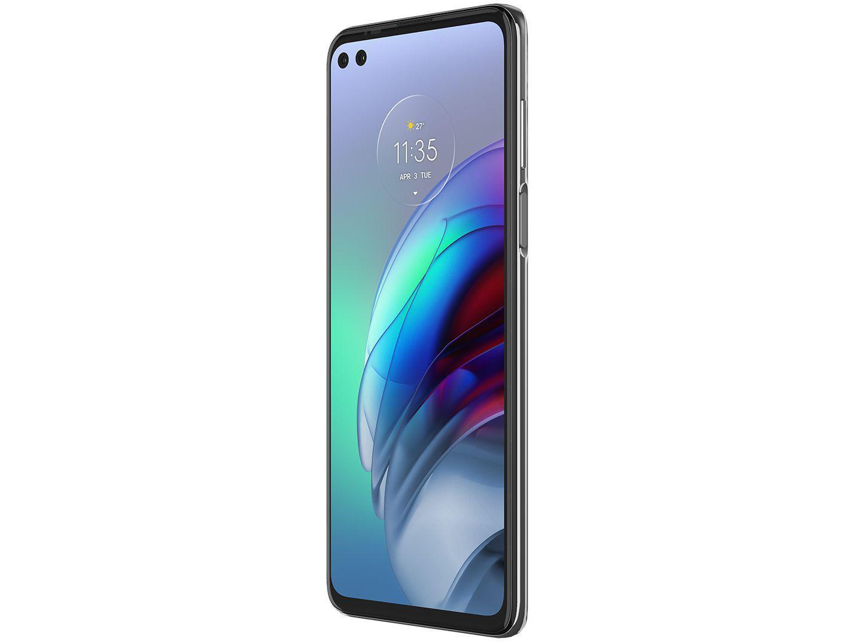 """Smartphone Motorola Moto G100 Luminous Sky 256GB, 12GB RAM, Tela de 6.7"""", 5G, Câmera Quádrupla, Android 11 e Processador Qualcomm 870 Octa-Core - 8"""