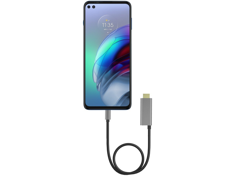 "Smartphone Motorola Moto G100 e Cabo USB-C/HDMI - 256GB Luminous Ocean 12GB RAM 6,7"" Câm. Quádrupla - 3"