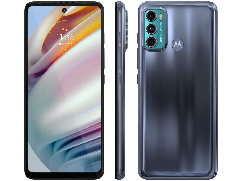 """Smartphone Motorola Moto G60 Azul 128GB, 6GB RAM, Tela de 6.8"""", Câmera Traseira Tripla, Android 11 e Processador Octa Core - 1"""