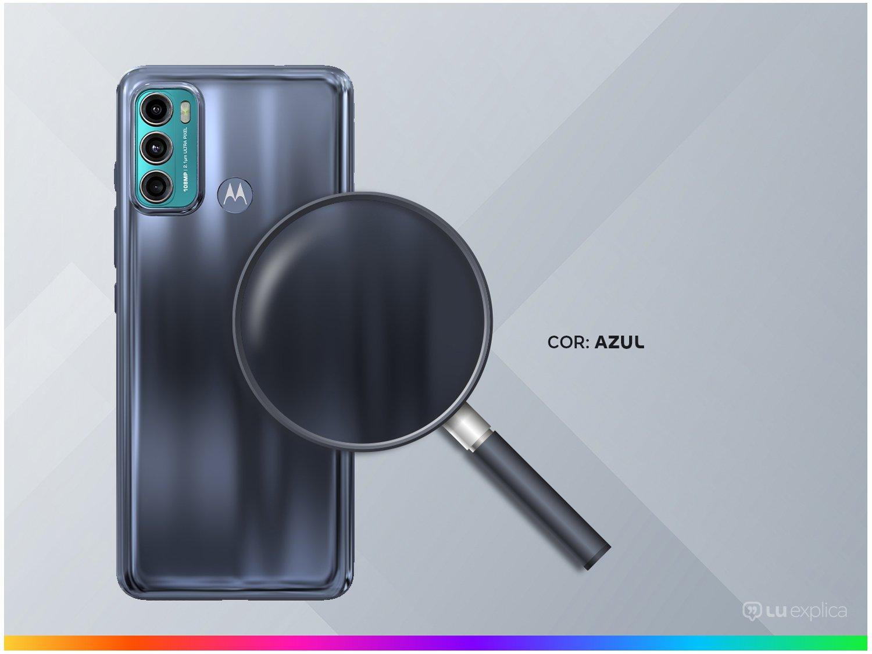 """Smartphone Motorola Moto G60 Azul 128GB, 6GB RAM, Tela de 6.8"""", Câmera Traseira Tripla, Android 11 e Processador Octa Core - 5"""