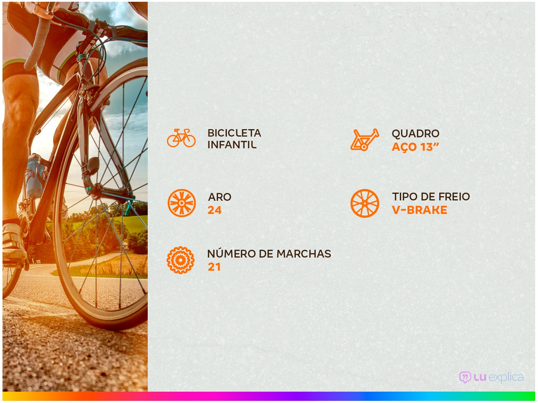 Bicicleta Aro 24 Caloi Max Juvenil - Tam: 12 - 3