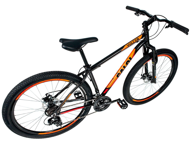 """Bicicleta Aro 29"""" Mountain Bike Caloi Vulcan - Freio a Disco 21 Marchas Câmbio Shimano - 9"""