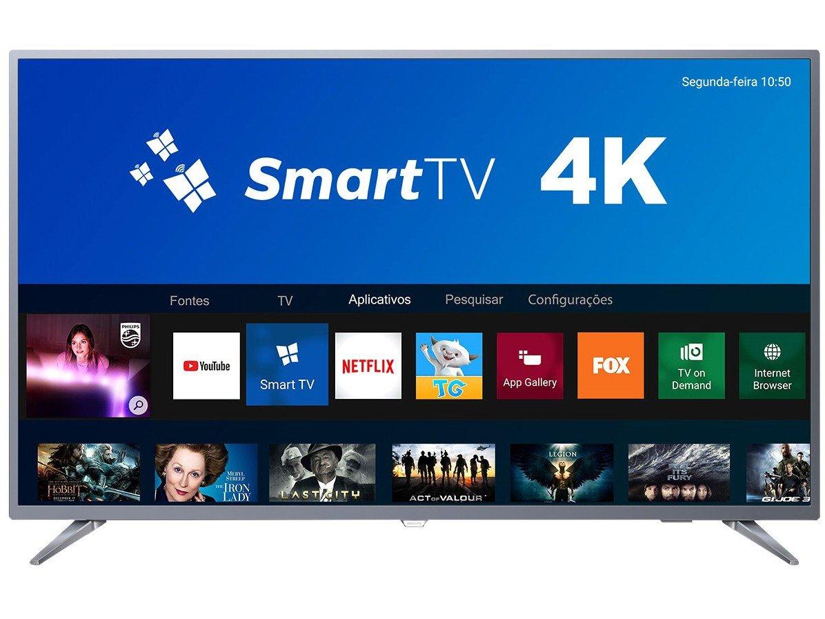 Foto 3 - Smart TV 4K LED 50 Philips 50PUG6513/78 Wi-Fi - 3 HDMI 2 USB
