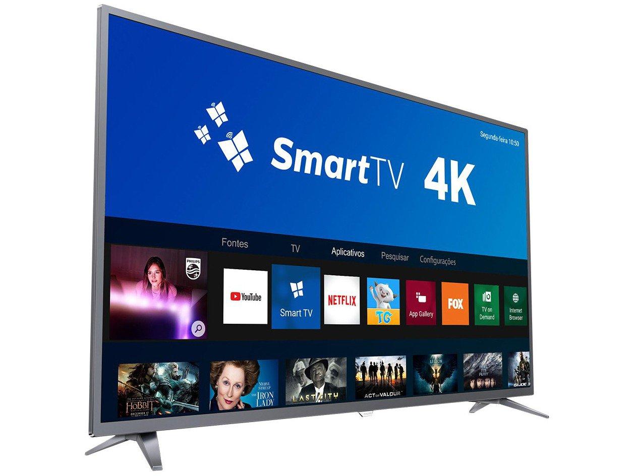 Foto 4 - Smart TV 4K LED 50 Philips 50PUG6513/78 Wi-Fi - 3 HDMI 2 USB