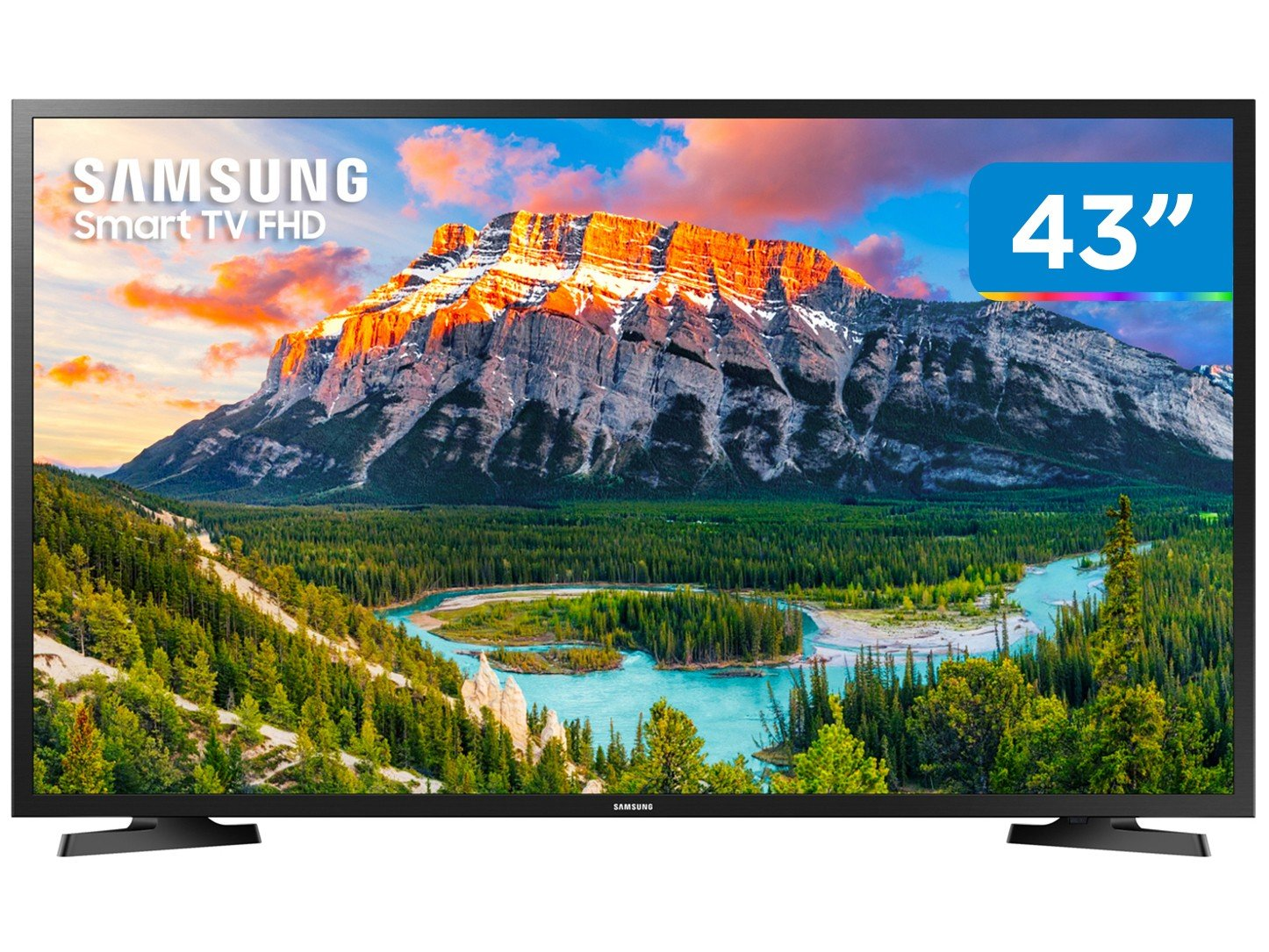 "Smart TV LED 43"" Full HD Samsung 43J5290 com Wide Color Enhancer Plus, Espelhamento de Tela, Wi-Fi, Dolby Digital Plus, HDMI e USB"
