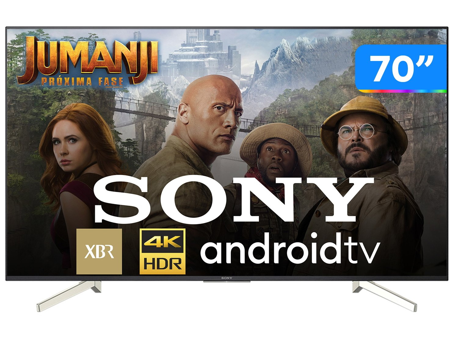 Foto 1 - Smart TV 4K LED 70 Sony XBR-70X835F Android - Wi-Fi HDR 4 HDMI 3 USB
