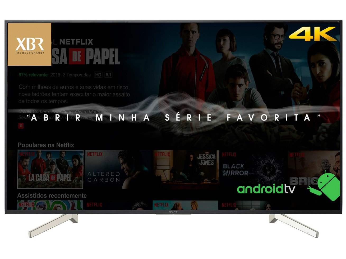 Foto 9 - Smart TV 4K LED 70 Sony XBR-70X835F Android - Wi-Fi HDR 4 HDMI 3 USB