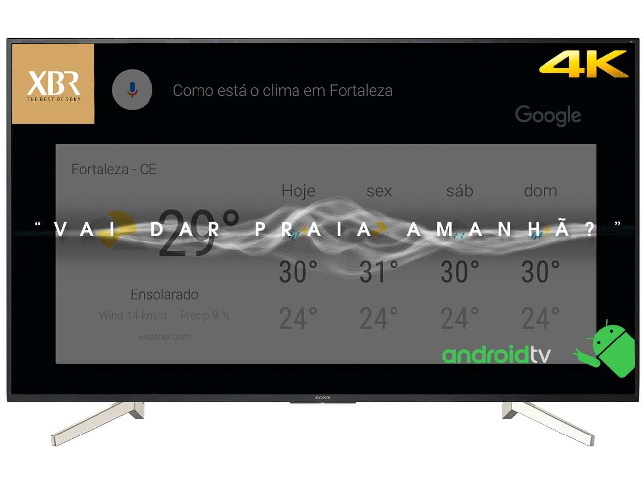 Foto 10 - Smart TV 4K LED 70 Sony XBR-70X835F Android - Wi-Fi HDR 4 HDMI 3 USB